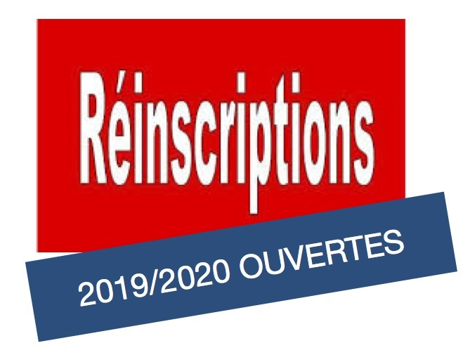 RE-INSCRIPTIONS 2019/2020